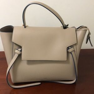 Celine Mini Belt Bag in taupe with blue detail